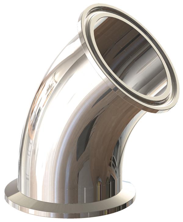 BioPharm 45° Clamp Elbow