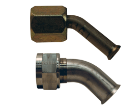 45° Elbow Female Weld End Metal Hose Fitting