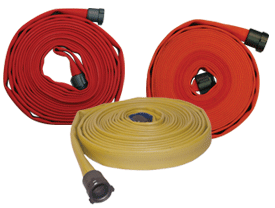500# Single Jacket Fire Hose - Color Impregnated