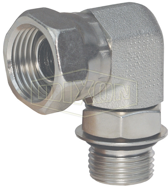 90° SAE O-ring Boss x Female NPSM Swivel Nut Elbow