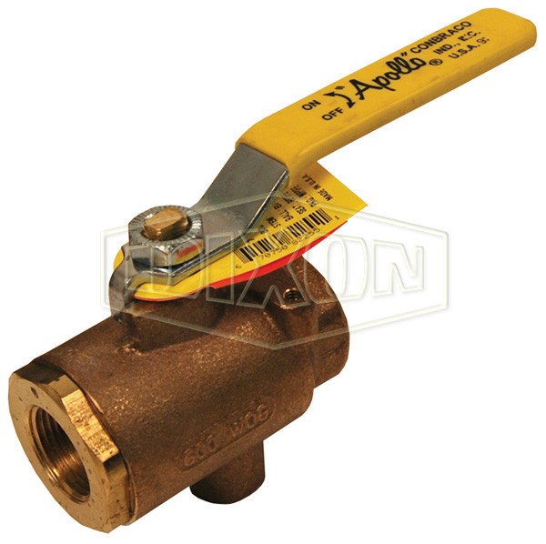 Bronze Ball Valve with NPT Tap for Drain