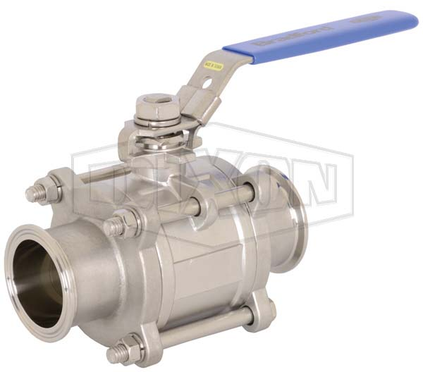 Non-Encapsulated 2-Way 3 Piece Stainless Steel Ball Valve
