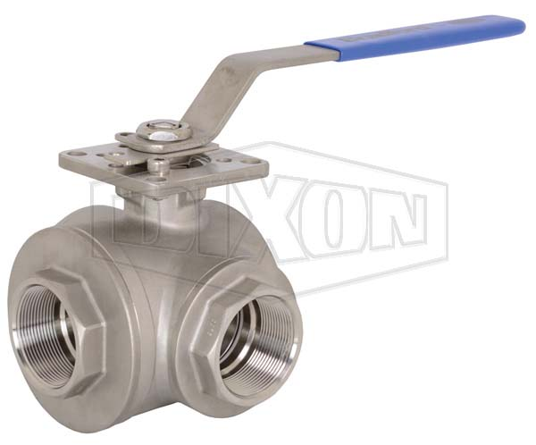 3-way Industrial Stainless Steel Ball Valve