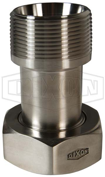 Plain Bevel Seat x Male NPT Adapter with Hex Nut