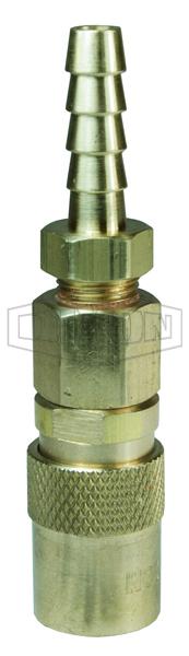 DQC CM-Series Industrial Mold Interchange Valved Coupler Hose Barb