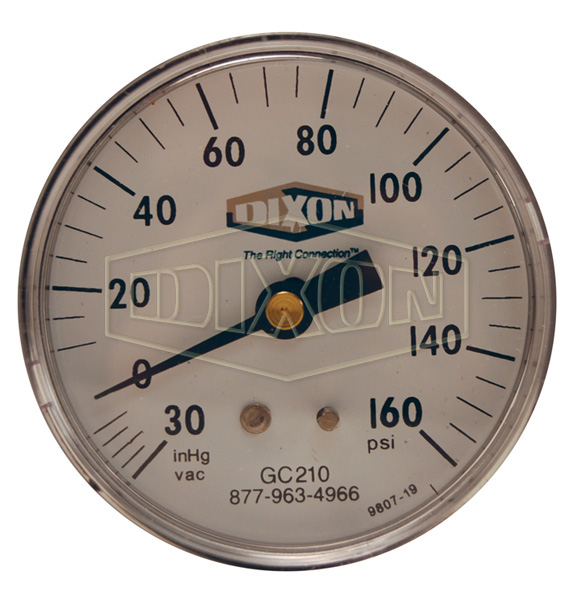 Compound Gauge Center Back Mount