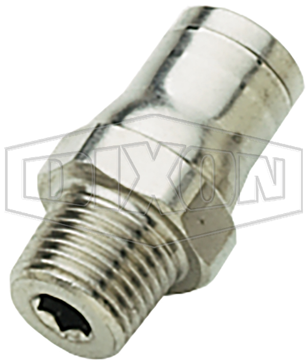 Nickel-Plated Brass Legris Push-In Male Connector