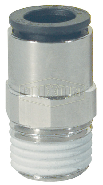 Legris Nylon/Nickel-Plated Brass Push-In Male Connector