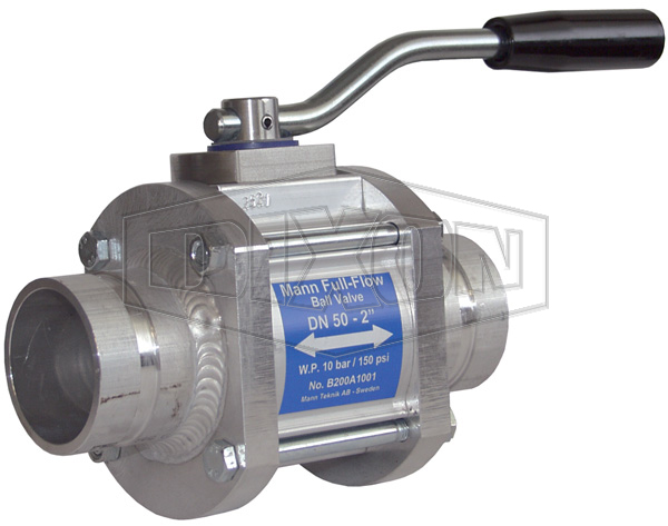 Mann-Tek One-Way Full Flow Ball Valve Grooved