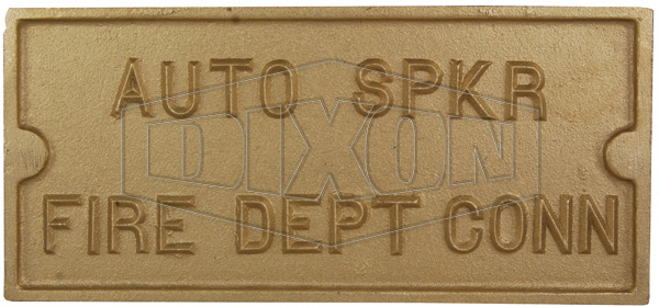 Rectangular Identification Plate