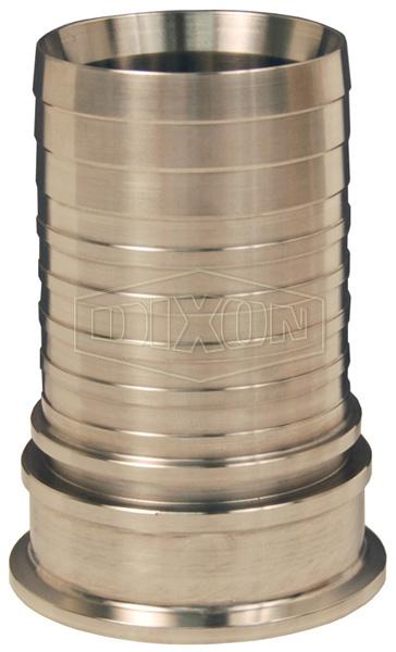 Dixon Sanitary Style Crimp Stem Clamp End x Hose Shank