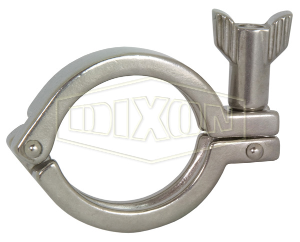 Single Pin Heavy Duty Clamp with Serrated Wing Nut