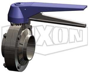 B5115 Series Butterfly Valve with Trigger Handle Weld End