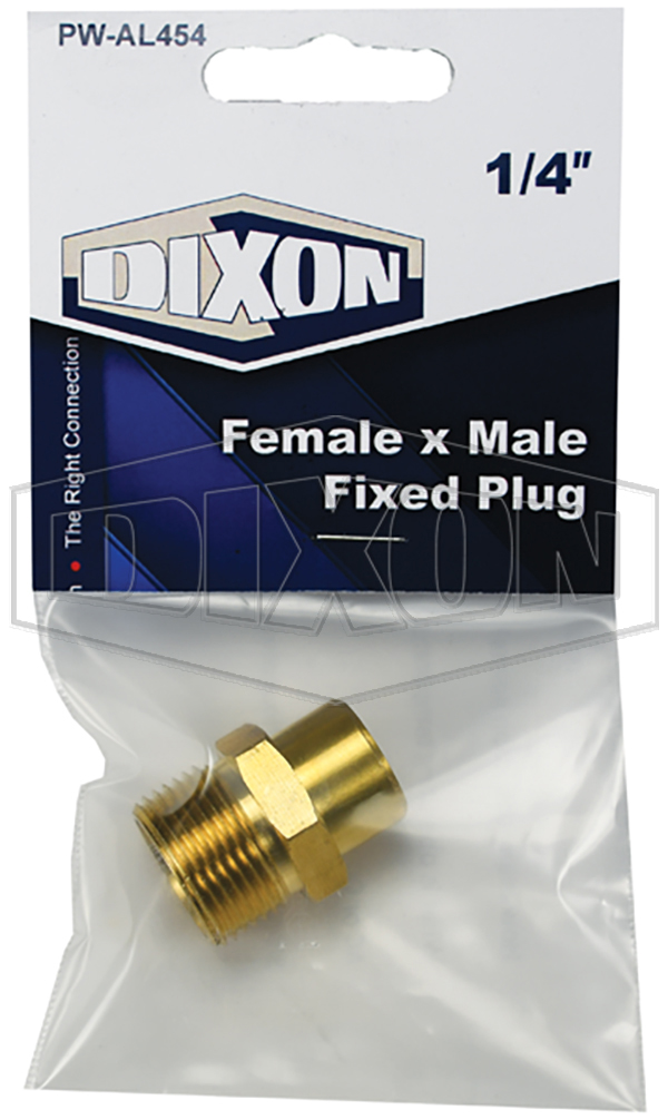 Female x Male Fixed Plug - Retail Packaged