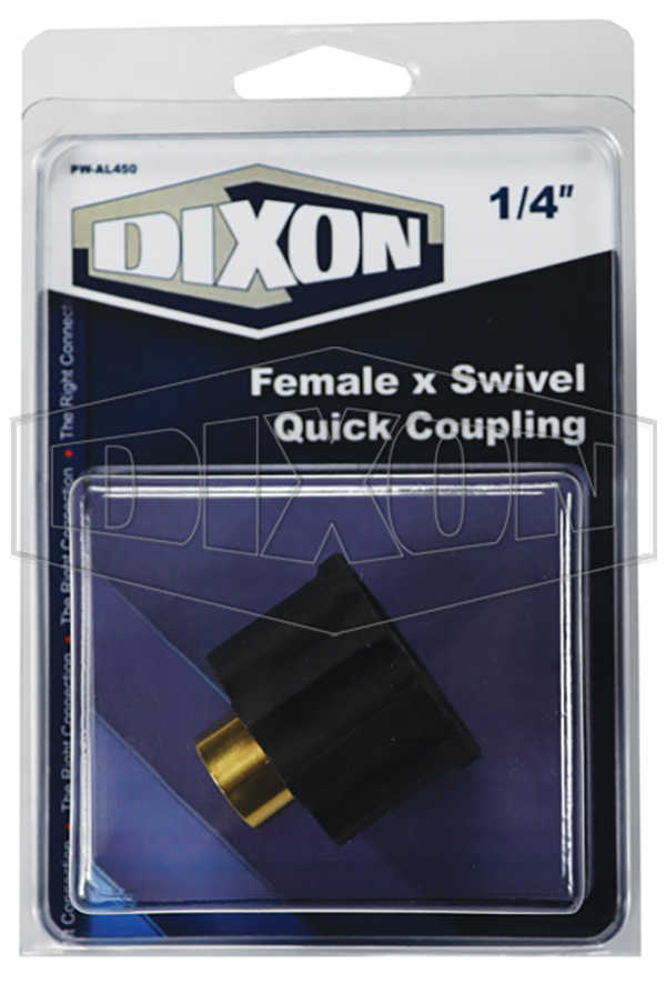 Female x Swivel Quick Coupling - Retail Packaged
