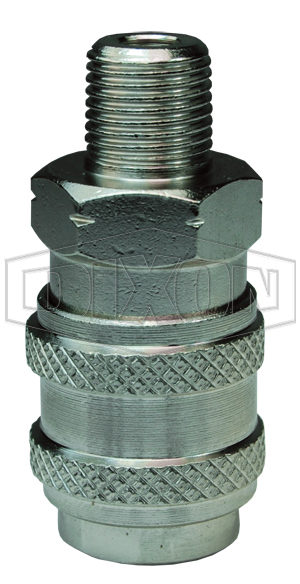 BR-Series Pneumatic Male Threaded Coupler