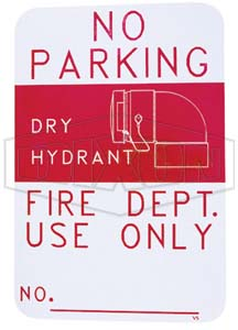 Dry Hydrant Sign