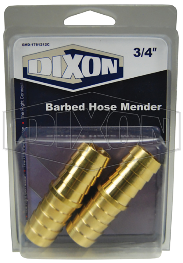 garden hose display barbed hose mender