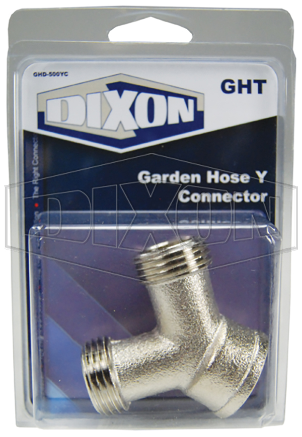 Garden Hose Y Connector - Retail Packaged