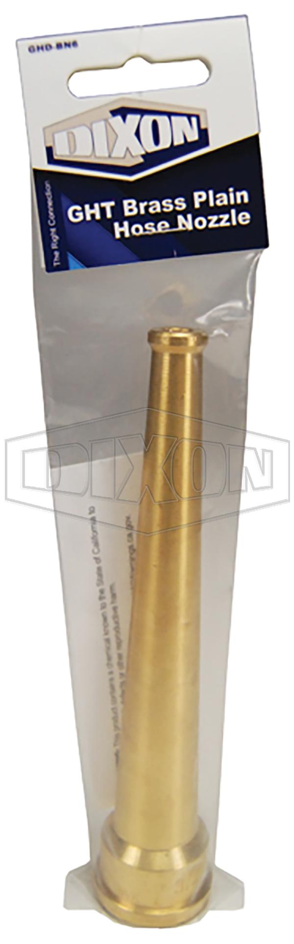 GHT Brass Plain Hose Nozzle - Retail Packaged