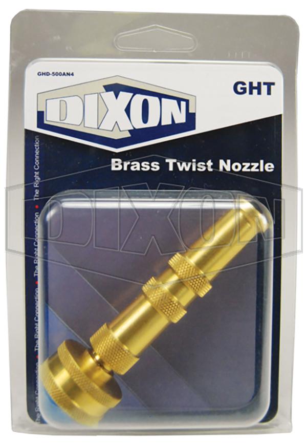 Garden Hose Display Brass Twist Nozzle