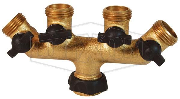 Garden Hose fittings ght 4 valve manifold