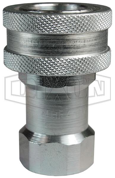 DQC H-Series ISO-B Steel Mill 'Slide Gate' Female Threaded Coupler