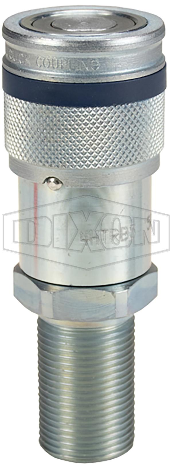 DQC HT-Series Correct Connect™ Flushface Male Threaded Bulkhead Coupler