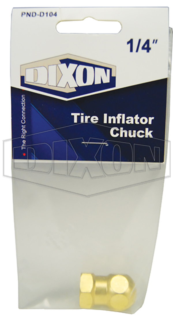 Tire Inflator Chuck - Retail Packaged
