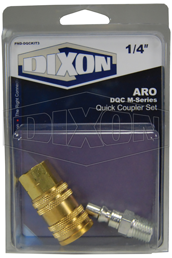 ARO DQC M-Series Quick Coupler Set - Retail Packaged