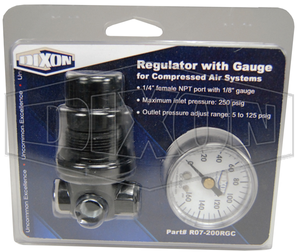 regulator with gauge for compressed air systems