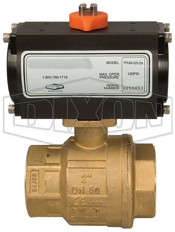 BV2BV Series Pneumatically Actuated Brass Ball Valves 2-Piece