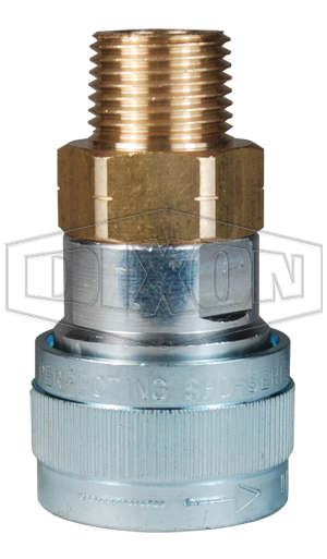 SHD-Series Schrader Pneumatic Male Threaded Coupler