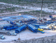 Hydralic fracturing site